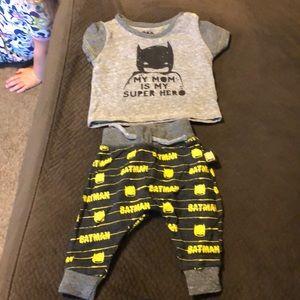 Batman 0-3 months. Worn once.